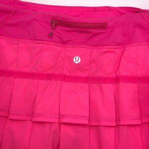 Lululemon hot pink awesome flutter skirt/shorts